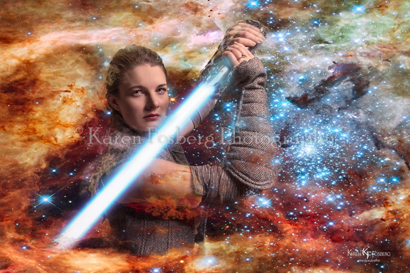 Cosplay of Rey, Star Wars, The Last Jedi